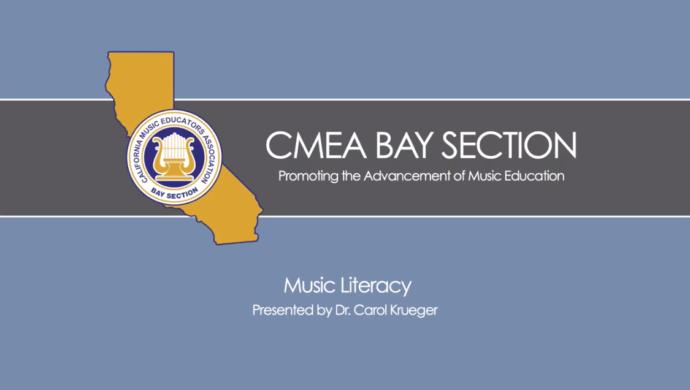 Music Literacy, presented by Dr. Carol Krueger